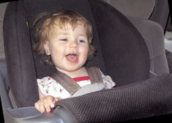 Baby at Daycare in Car Seat